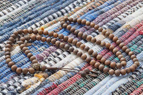 Классические буддийские четки из кракелированного агата 108 бусин