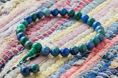 Буддийские четки-браслет из азуромалахита 27 бусин