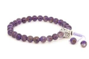 Изящные буддийские четки-браслет из аметиста 27 бусин