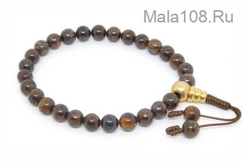 Буддийские четки-браслет из бронзита 27 бусин