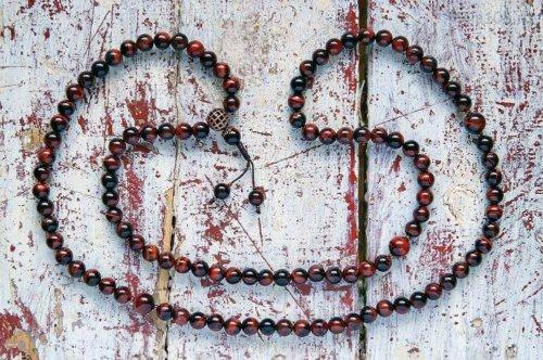 Классические буддийские четки из полированного камня бычий глаз