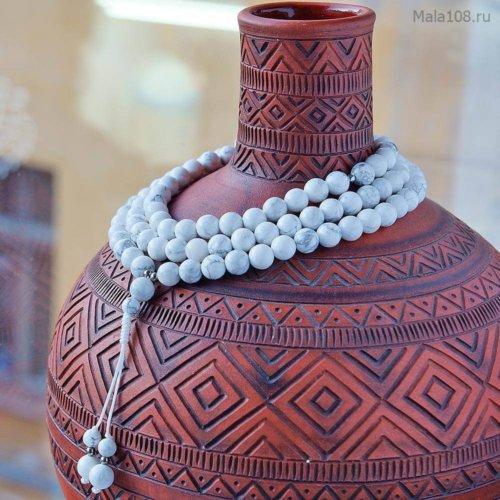 Классические буддийские четки из полированного кахолонга
