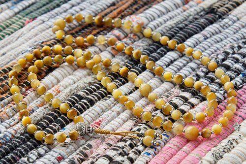 Буддийские четки из кошачьего глаза 108 бусин с серебряной гуру