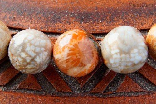 Классические буддийские четки из полированного коралла