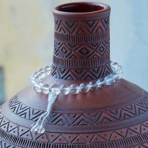 Буддийские четки-браслет из хрусталя 27 бусин, они же - четки на руку
