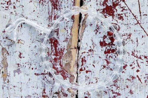 Изящные буддийские четки-браслет из граненого хрусталя 27 бусин