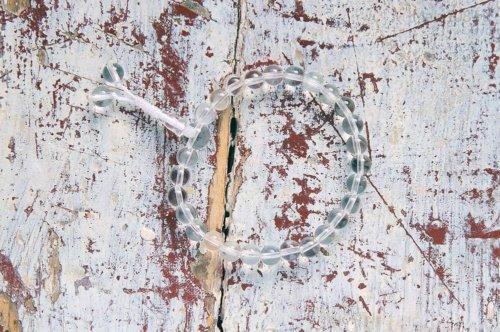 Изящные буддийские четки-браслет из полированного хрусталя, они же — четки на руку