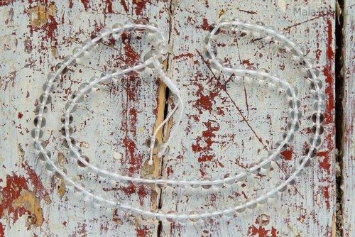 Изящные буддийские четки из полированного хрусталя