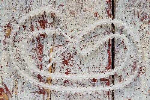 Классические буддийские четки из матового хрусталя 108 бусин