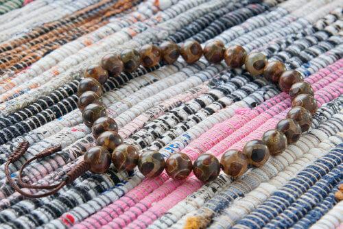 Крупные буддийские четки-браслет из 27 бусин Дзи