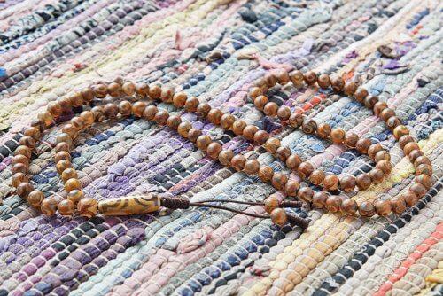 Классические буддийские четки из 108 бусин Дзи