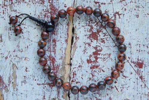 Буддийские четки-браслет из 27 бусин Дзи, они же четки на руку