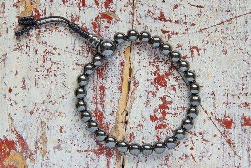 Буддийские четки-браслет из гематита, они же — четки на руку