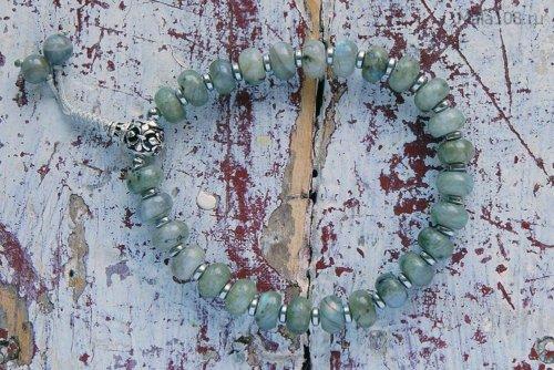 Классические буддийские четки-браслет из лабрадорита, они же — четки на руку
