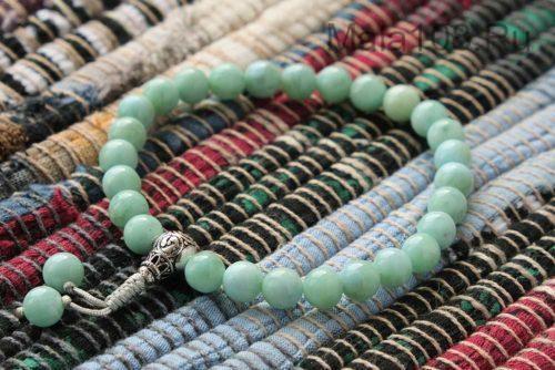 Изящные буддийские четки-браслет из ларимара 27 бусин