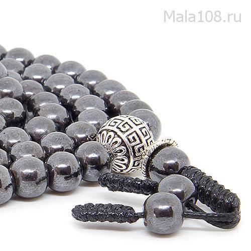 Классические буддийские четки из полированного магнетита