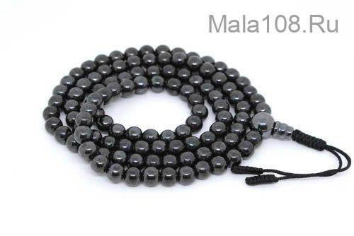 Классические буддийские четки из магнетита 108 бусин