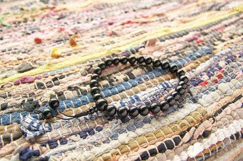 Буддийские четки-браслет из мориона 27 бусин, они же — четки на руку