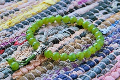 Изящные буддийские четки-браслет из нефрита 27 бусин, они же — четки на руку