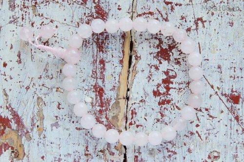 Буддийские четки-браслет из полированного кварца, они же — четки на руку