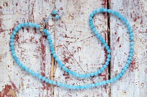 Изящные буддийские четки из тонированного кварца