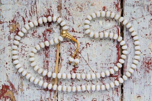 Классические буддийские четки из белоснежного кварца