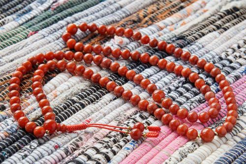 Классические буддийские четки из сердолика 108 бусин