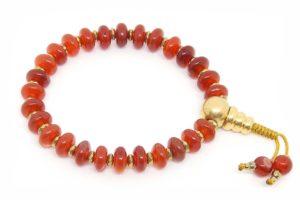 Буддийские четки-браслет из сердолика 27 бусин