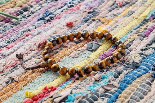 Буддийские четки-браслет из тигрового глаза 27 бусин, они же — четки на руку