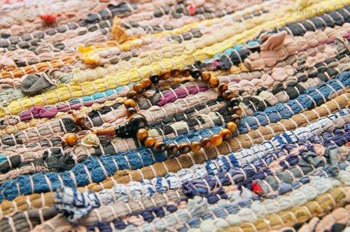 Изящные буддийские четки-браслет из тигрового глаза 27 бусин, они же — четки на руку