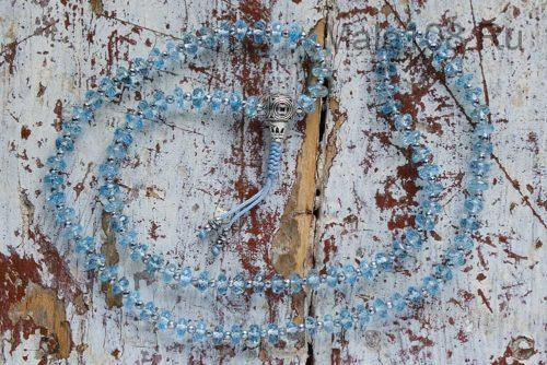 Изящные буддийские четки из натурального топаза 108 бусин