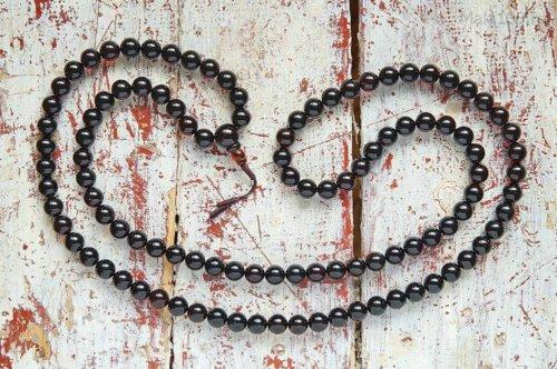 Крупные буддийские четки из янтаря оттенка «вишня»
