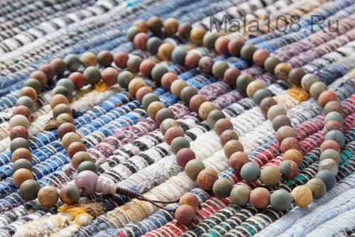 Классические буддийские четки из матовой яшмы пикассо 108 бусин