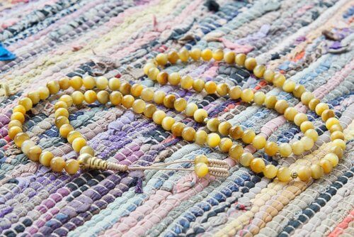 Классические буддийские четки из камня кошачий глаз 108 бусин