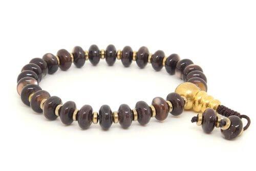 Буддийские четки-браслет из перламутра 27 бусин