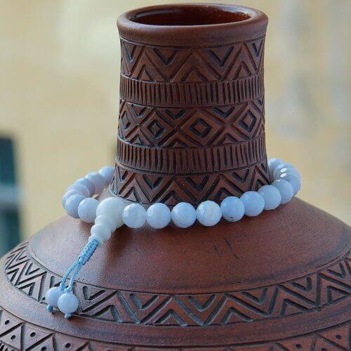 Буддийские четки-браслет из сапфирина 27 бусин