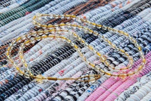 Миниатюрные буддийские четки из цитрина 108 бусин