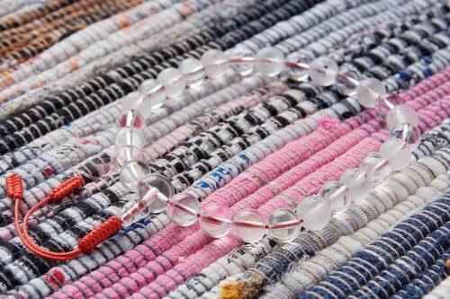 Крупные буддийские четки-браслет из хрусталя 27 бусин