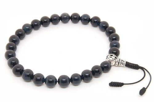 Классические буддийские четки-браслет из соколиного глаза 27 бусин