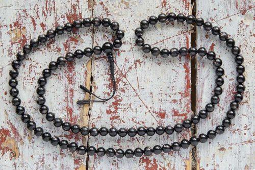 Классические буддийские четки из гиперстена 108 бусин