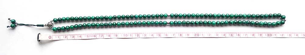 Измерение длины четок на 108 бусин