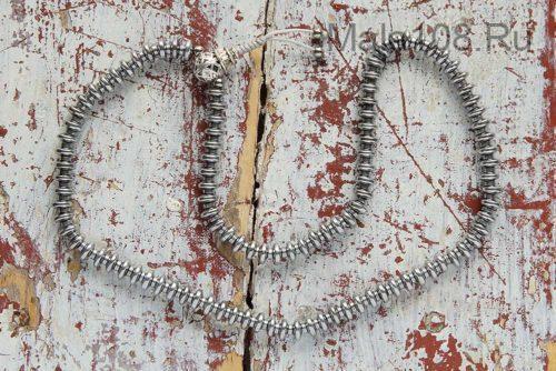 Изящные буддийские четки из гематита рондель 108 бусин