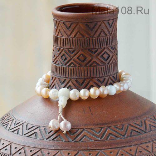 Классические буддийские четки-браслет из жемчуга 27 бусин