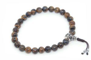 Изящные буддийские четки-браслет из петерсита 27 бусин