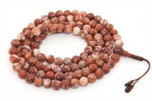 Классические буддийские четки из шоколадной яшмы 108 бусин