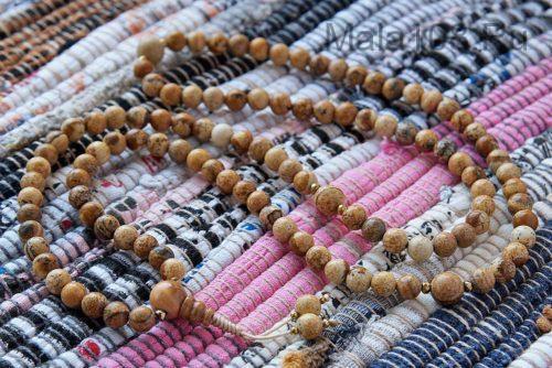 Изящные буддийские четки из пейзажной яшмы 108 бусин