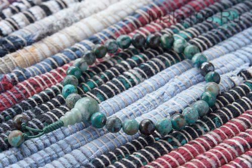 Изящные буддийские четки-браслет из хризоколлы 27 бусин