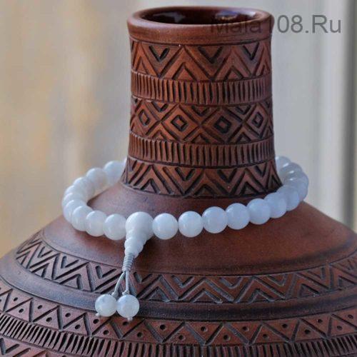 Буддийские четки-браслет из лунного камня 27 бусин