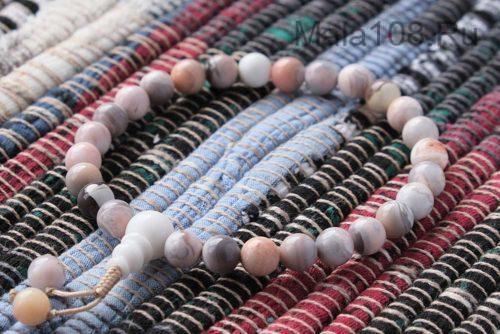 Буддийские четки-браслет из ботсванского агата 27 бусин
