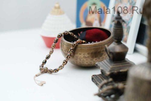 Буддийские четки-браслет из 27 бусин Дзи